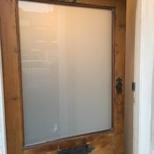 White Laminated Glass fitted in Door
