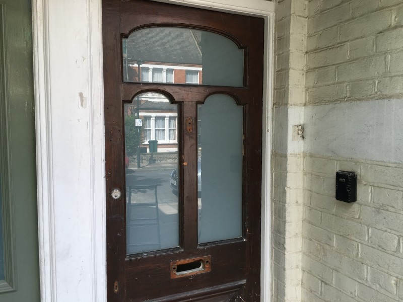 White Laminated Glass In Front Door 1st Call Glazing