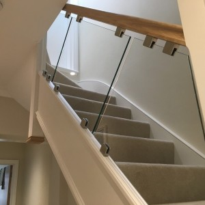 Balustrade Glass Fitted on Staircase