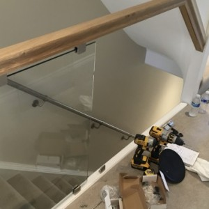 Clear toughened glass used for balustrade