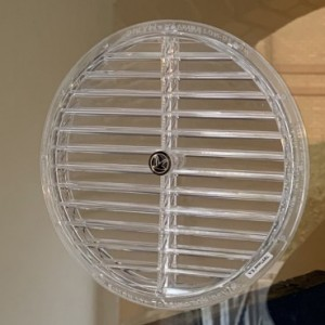 Gas Reg Vent fitted in Glass