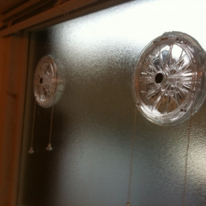 Corded vents in glass