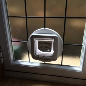 Microchip Cat flap in double glazing
