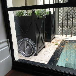 Gas Vent fitted in Glass Unit