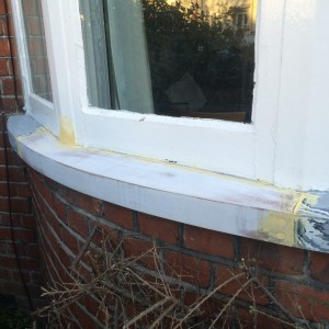 New Curved Wooden Sill Fitted