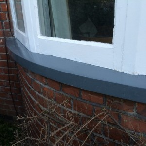 Primer Applied To Wooden Sill