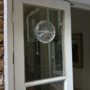 Corded vent in glass fitted