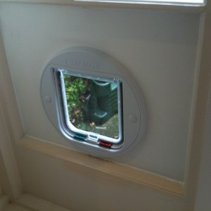 Slim-line Cat flap fitted