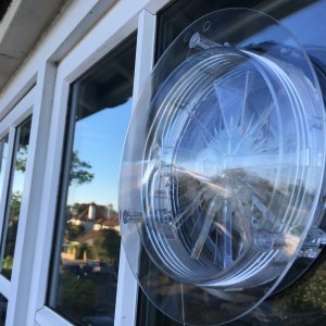 Six-inch corded vent in double-glazed unit