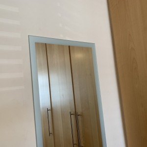 Mirror with sandblast border SW20