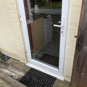 PVC door before cat-flap is fitted
