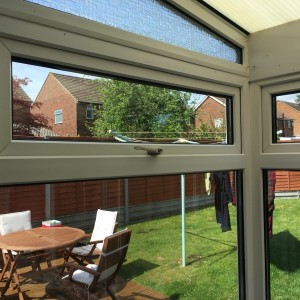 New Double-Glazed Units fitted in Conservatory