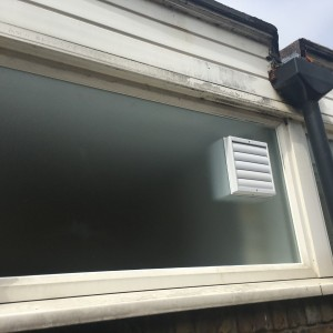 Electric fan fitted in Obscure Toughened Glass