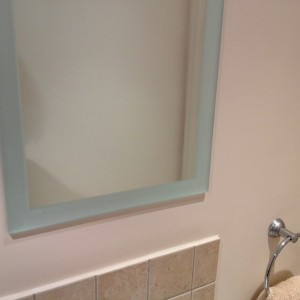 Mirror with Sandblasted Edges