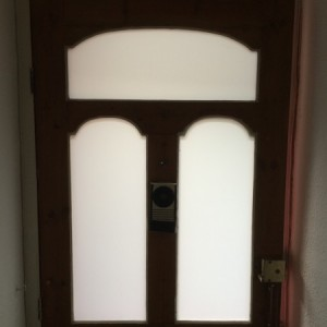 Front door safety glass