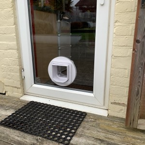 Micro-Chipped Cat-Flap fitted in Double-Glazed Unit