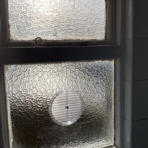 Gas Vent in Glass - Raynes Park SW20