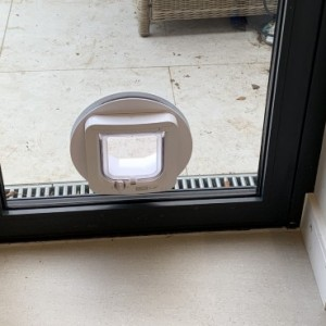Cat-Flap in Glass Unit - Raynes Park SW20