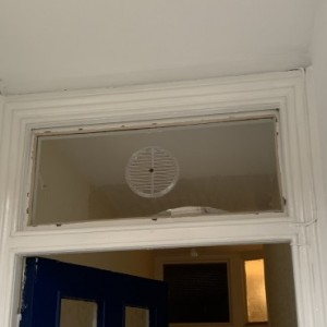 Gas Reg vent fitted above door