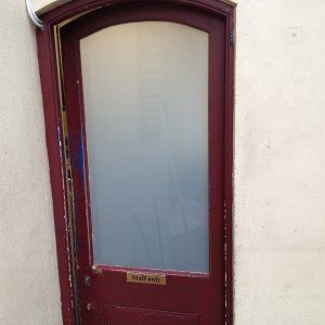White Laminated Glass In Door
