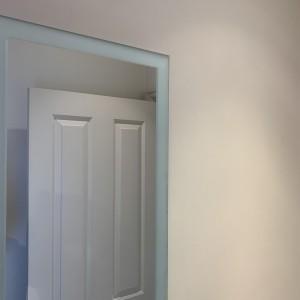 Bathroom Mirror with Sandblast Border SW20