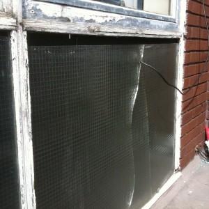 Broken Georgian Wired Glass