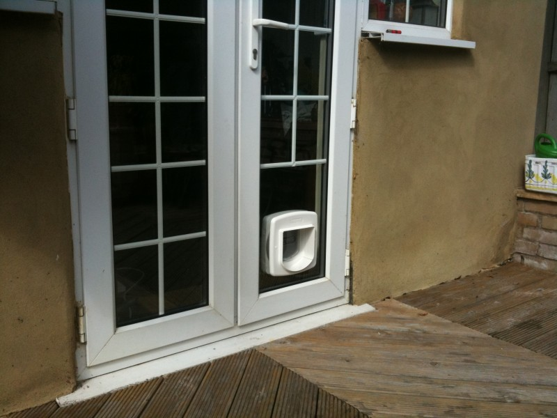 Cat Flaps Fitted In Glass In South West London