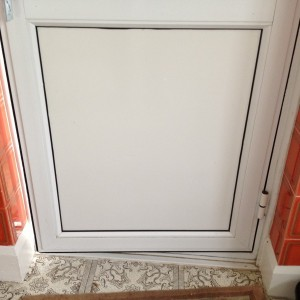 Infill Panel in PVC Door