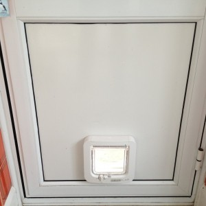 Microchip Cat-Flap in Door Panel