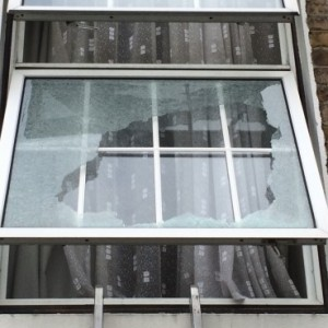 Broken Toughened Glass Unit